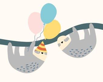 Greeting Card - 'Birthday Sloth'