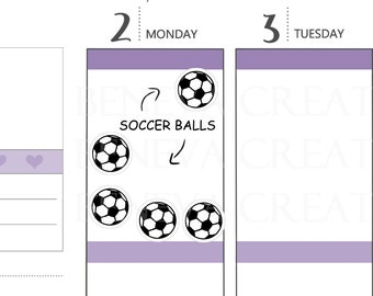 Soccer Ball Stickers - Football Stickers - Soccer Equipment - Soccer Practice - Soccer Planner Stickers - (SE-024)