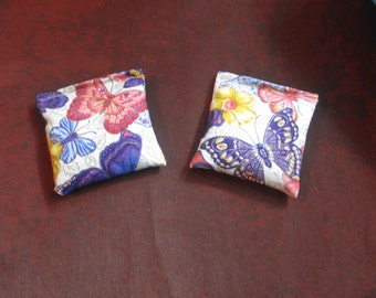 2 Purple Butterfly Rice Bags - Nail Application - Hot or Cold Compress - Pick Your Size - Reusable Rice Bags
