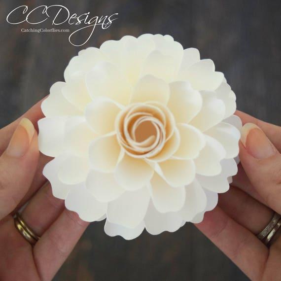 Paper flower templates- DIY paper flower dahlia- PDF flower patterns ...