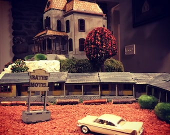 Wooden Miniature Model Bates House and Motel 3d kit