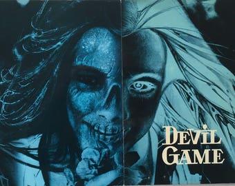 Rare international pressbook Devil Game (El juego del diablo) Dir. Jorge Darnell 1975