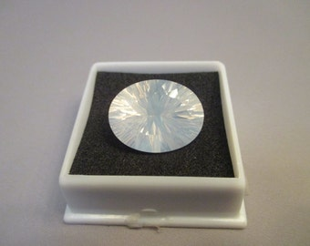 Stunning and Rare Blue Moon Quartz Gemstone  20x15mm Oval Quantum Cut