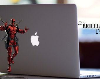 Deadpool Decal, Deadpool Macbook Decal, Deadpool Sticker, Deadpool, Deadpool Skin, Deadpool MacBook Pro Decal, Marvel Comics Decal