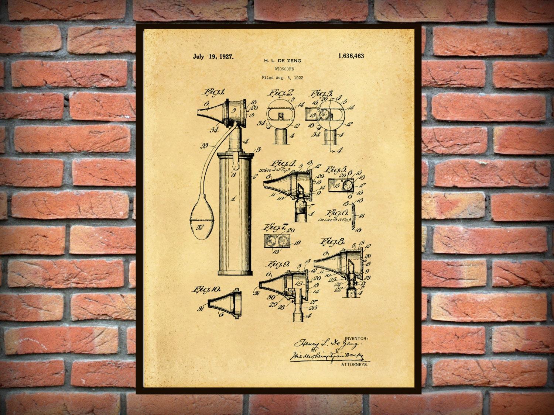 Patent 1922 Otoscope Patent Art Print - Poster - Medical - Doctors ...