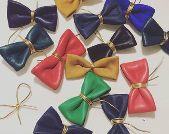 Small leather bow