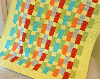 Lap Quilt Bright Pastels