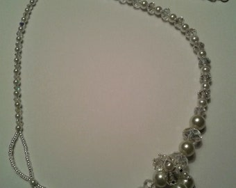 Pearl & Crystal OOAK Design Bridal Necklace