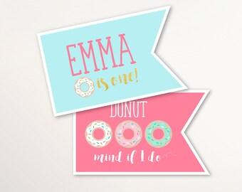 Donut Party Centerpieces