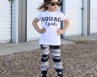 Squad goals graphic children's Tshirt. Sizes 2T, 3t, 4t, 5/6T funny graphic kids shirt, squad goals kids shirt