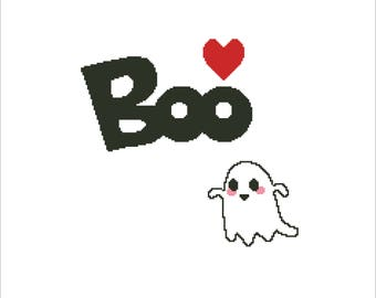 Buy 2 Get 1 Free-Boo Halloween Cross Stitch Pattern-Happy Halloween Cross Stitch-Pumpkin-Trick or Treat -PDF pattern-INSTANT DOWNLOAD-P-111