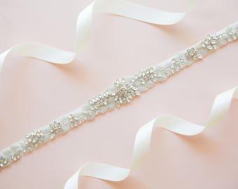 Bridal belt - bridal sash - wedding belt - wedding sash - rhinestone sash - crystal sash - rhinestone bridal belt - bridal sashes and belts