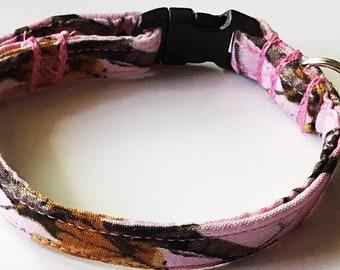 Pink Camouflage Breakaway Cat Collar