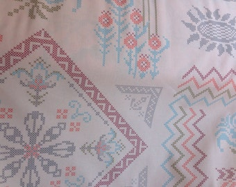 "Anna Maria Horner ""Loulouthi Needlework, Visions"" in Powder 100% Cotton Fabric"