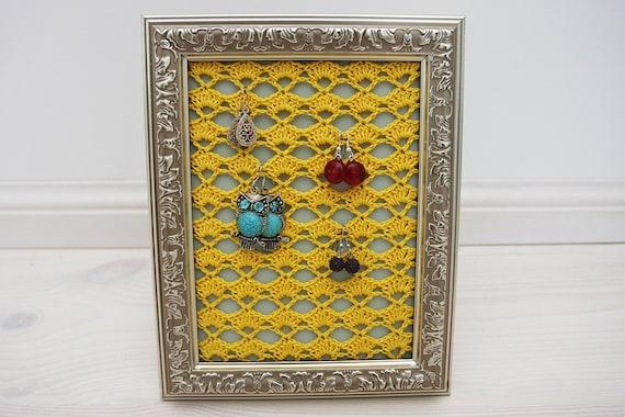 Crochet Earring Stand Earring Holder Crochet Jewelry
