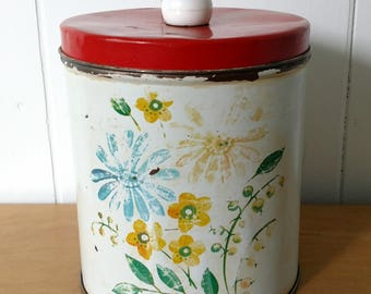 vintage flower canister Colorware