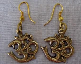 Tibetan Om earrings, Om Nepal earrings, Om Shanti earrings