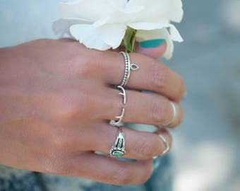 Ring Sterling Silver 925 ~ Ring ~ Jewelry ~ Thin Band ~ Basic ~ Casual ~ Everyday ~ Bohemian ~ Hippie ~  Boho ~ Maresia ~ Minimalist MR007