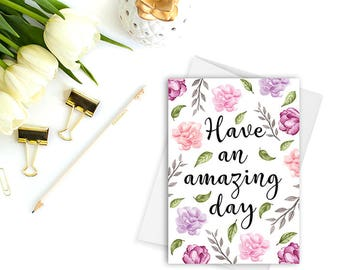 Have An Amazing Day Greeting Cards Blank Inside Cute Stationery Birthday