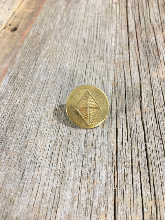 Worl War II U. S. pinback, vintage double pinback from World War Two, US Army collar pin, vintage military pin, United States memorabilia