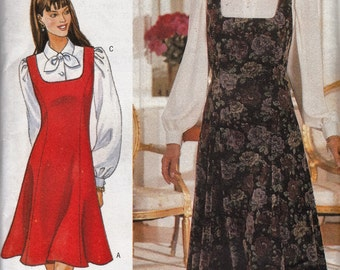 Fitted Square Neckline Jumper  - 1990s Sleeveless Fashion - Size 6-8-10-12 - UNCUT - Sewing Pattern Butterick 4250