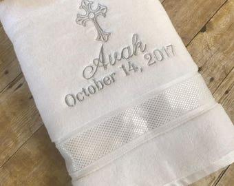 Baptism Towel ~ Christening Towel ~ Baptism Towels ~ Personalized Baptism Towel ~ Baptism Gift ~ Christening Gift