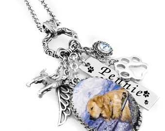 Custom Dog Necklace, Personalized Dog Necklace, Dog Pendant, Custom Dog Jewelry, Personalized Dog Jewelry, Your Own Picture