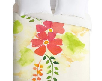 Colorful Poppies Duvet Cover