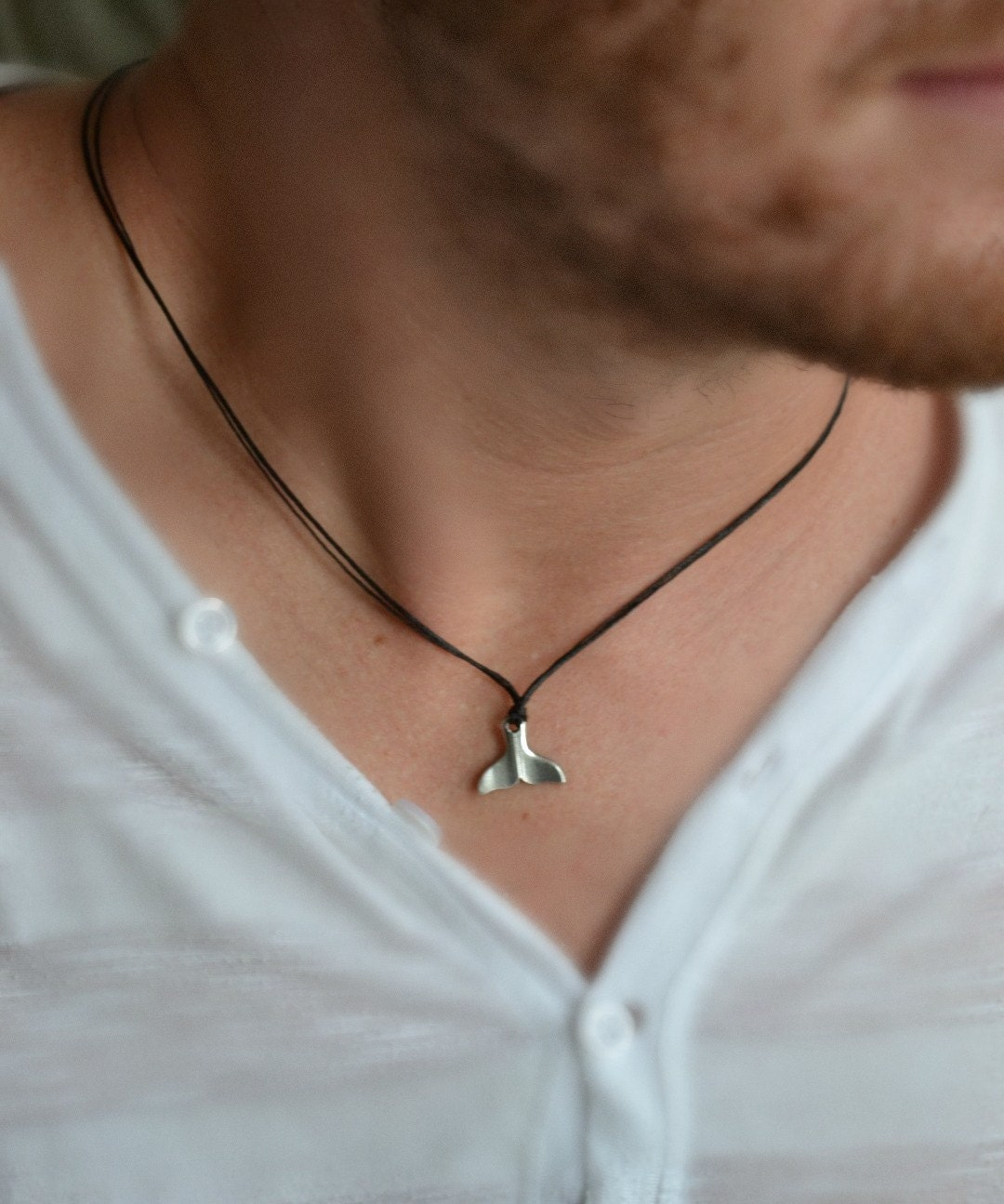Whale Tail Necklace For Men Men S Necklace With A Silver