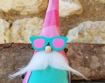 Beach gnome, Tomte Nisse, garden Gnome, tomte, nisse, Swedish Gnome, summer decoration, Gnome, swedish tomte, beach decoration, sunglasses,
