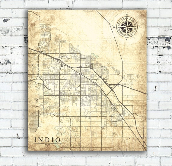 INDIO CA Canvas Print Indio Ca California Vintage map Indio Ca