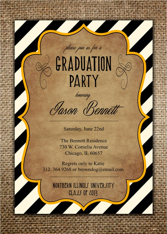 Graduation Party Invitation High SchoolCollege