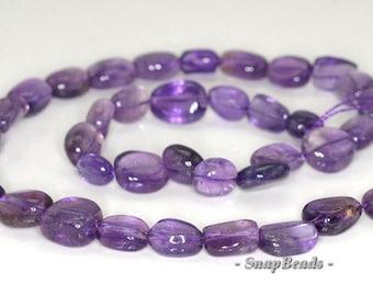 12x10mm Amethyst Gemstone Nugget Loose Beads 7.5 inch Half Strand (90191224-B19-533)