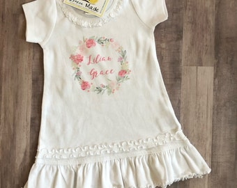 Shabby chic dressnwith name  dress with name