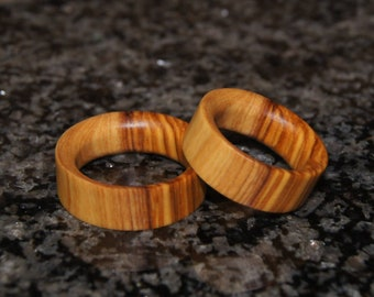 Any size - olive wood rings