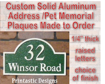 Address Marker/Pet Memorial/Garden Plaque (A2) - Custom Cast Aluminum
