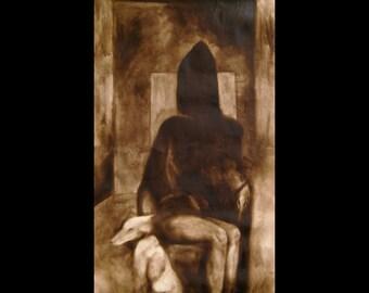 """Macabre Art Print """"The Sitting"""" Dark Morbid Witkin"""