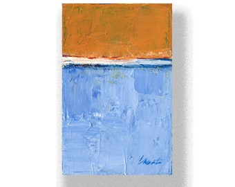 """Abstract Painting. """"Blue Orange White"""""""