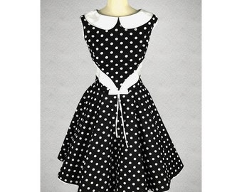 Petticoat dress dress 50's black and white