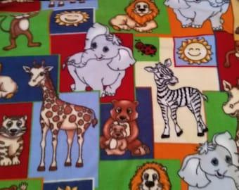 Jungle Babies Fleece Fabric