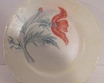 Vintage Floral Dinner Plate