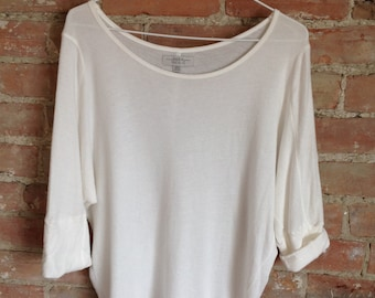 White Quarter Sleeve Shirt