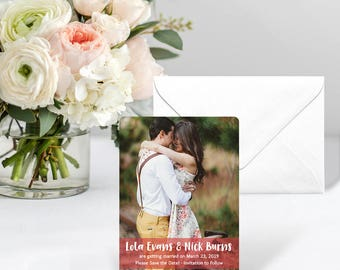 Breckenridge - Card - Save the Date - Includes Back Side Printing + Envelope