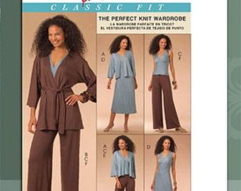 OOP Misses Jackets, Belt, Top, Dress and Pants Pattern Plus Sizes 16-24 UNCUT