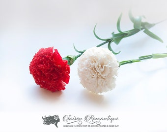 Carnation - Polymer Clay Flowers