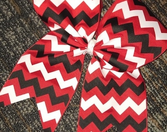 Three Color Chevron Bow