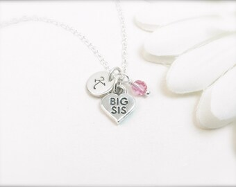 Personalized Big Sister Necklace - Big Sister Gift - Sister Necklace - Sister Jewelry - Sorority Sister Gift - Adult Big Sister Gift