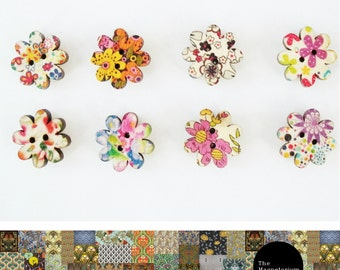 Flowers 8 Petal Fridge Magnet Set