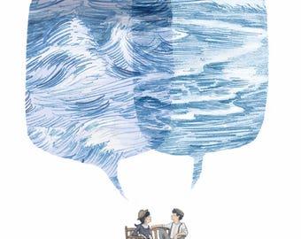 Seatalking A4 Art Print
