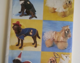 Dog Costume / Dog Clothes / Dog sewing pattern / dog bride /princess /2000s/ sewing pattern, Size X-Small Small Medium large, Butterick 6666